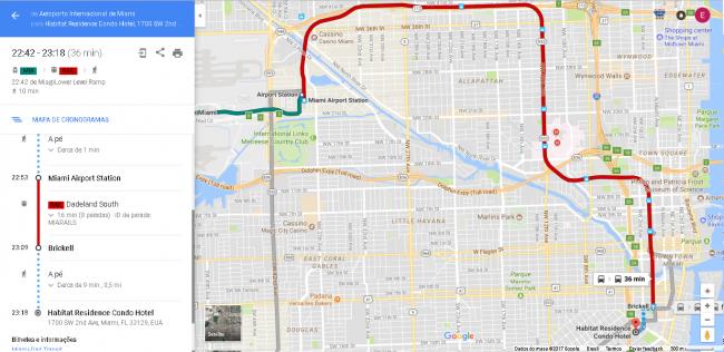 Trajeto Aeroporto Miami Habitat Residence 650x316 - Alugar um carro no aeroporto é mais caro?