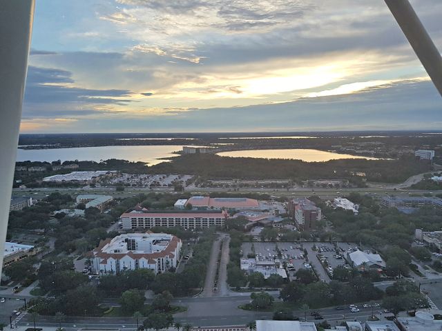 Orlando Eye Roda Gigante Vista LIttle Sand Lake - Orlando Eye: Conheça a roda gigante de Orlando
