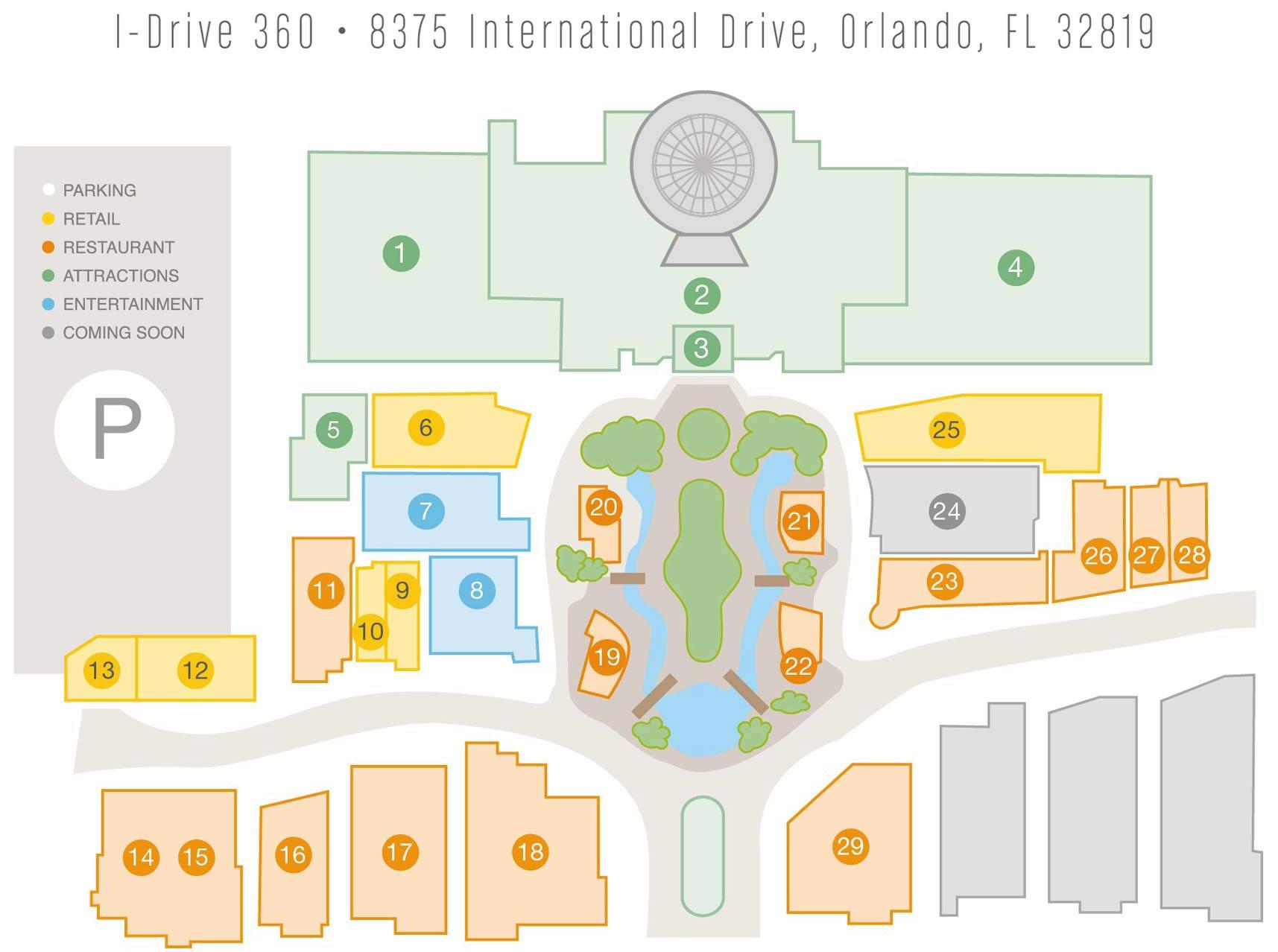mapa i drive - Orlando Eye: Conheça a roda gigante de Orlando