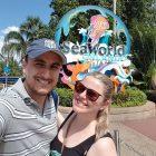 Montanhas-russas no SeaWorld em Orlando