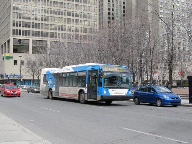 31 003 747expressbus 650x488 - Como ir do Aeroporto de Montreal ao Centro da cidade