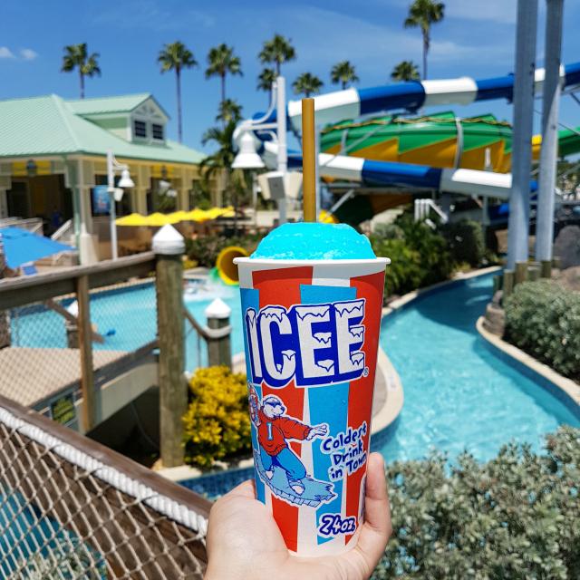 Splash Harbour Indian Rocks Bebida Icee - Diversão no Splash Harbour Water Park na Flórida