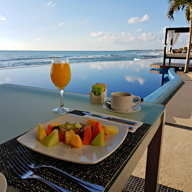Hotel All Inclusive Senses Artsana Playa Del Carmen Café da manhã - Nossa primeira vez em um All Inclusive - Hotel em Playa del Carmen