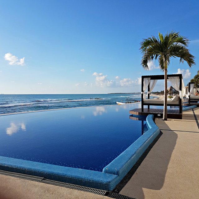 Hotel All Inclusive Senses Artsana Playa Del Carmen Piscina - Nossa primeira vez em um All Inclusive - Hotel em Playa del Carmen