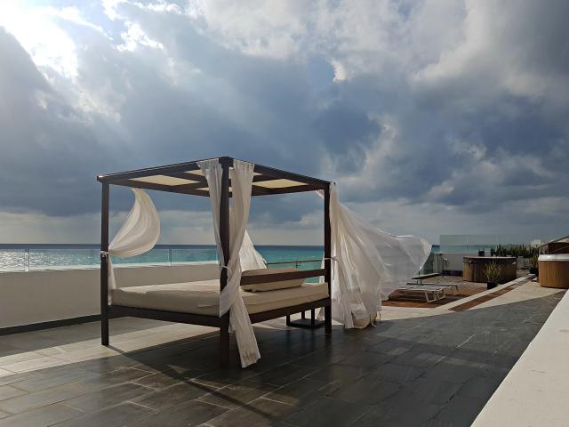 Hotel All Inclusive Senses Artsana Playa Del Carmen Terraço - Nossa primeira vez em um All Inclusive - Hotel em Playa del Carmen