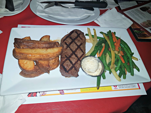 Planet Hollywood NYC Times Square Sirloin Steak - Planet Hollywood New York City