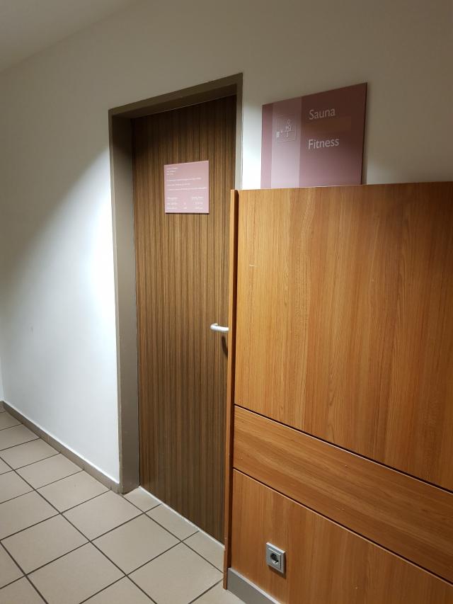 Entrada Sauna e Academia